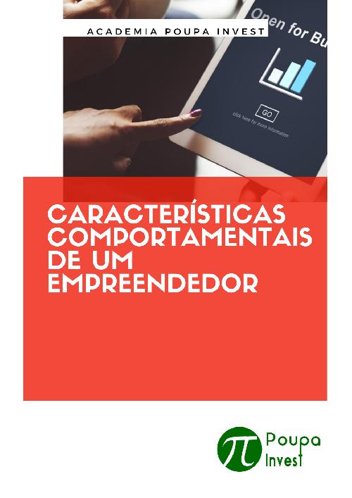 CARACTERÍSTICAS COMPORTAMENTAIS DE UM EMPREENDEDOR